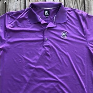 Footjoy Purple Golf Polo Size XXL